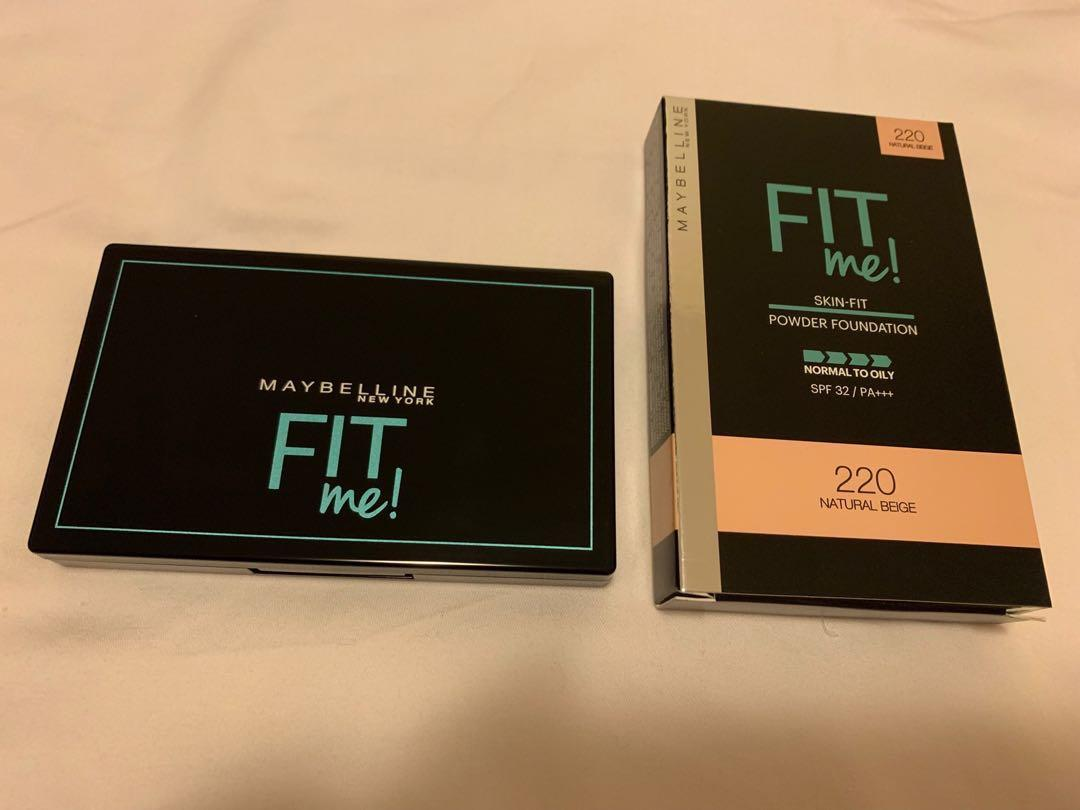 Maybelline fit me skin-fit powder foundation SPF 32 PA+++