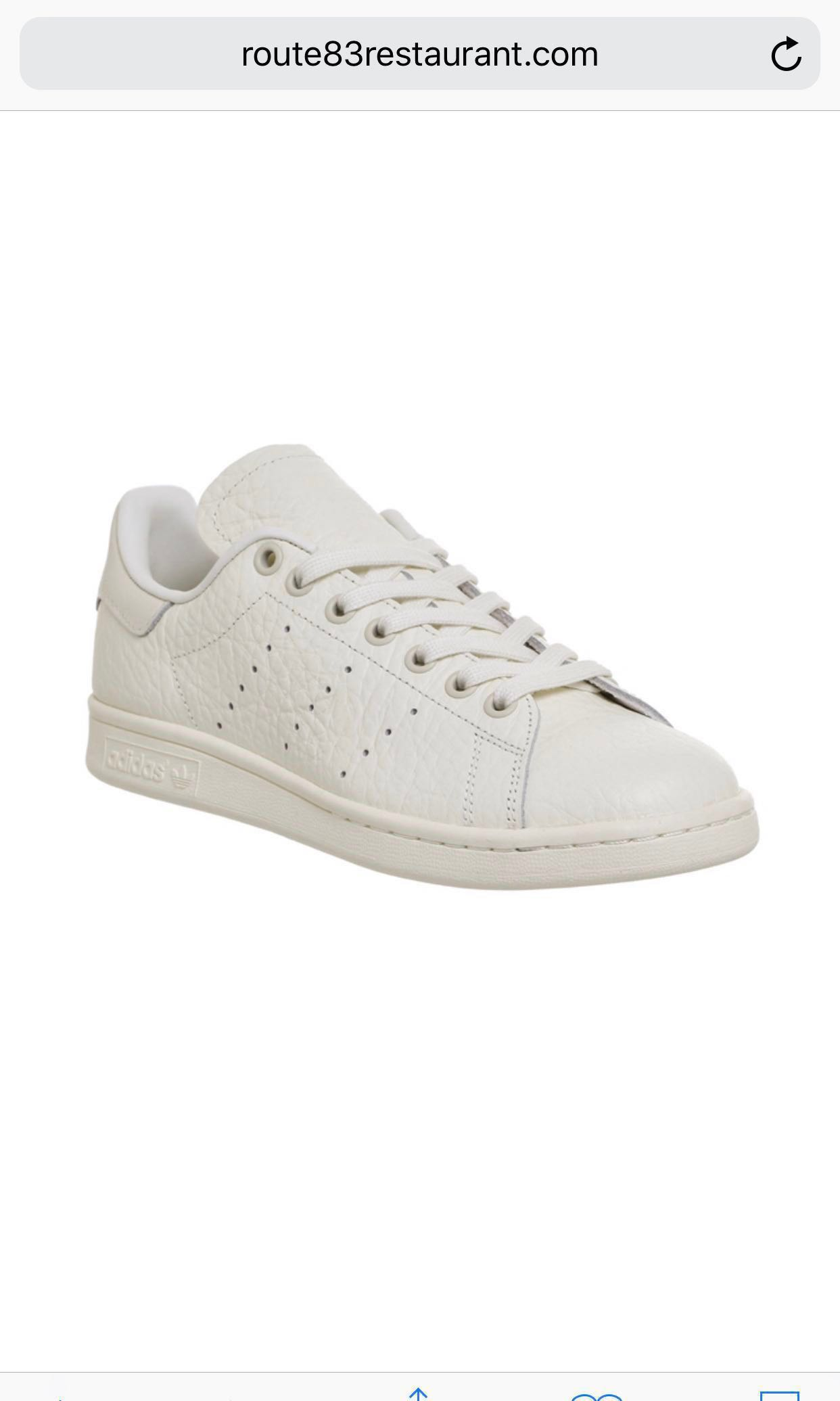 (NEW!!) Adidas Originals Off White Textured Leather Trainers