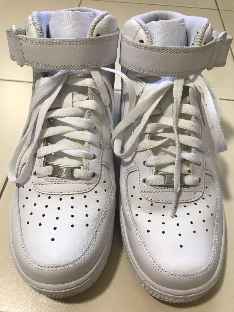 Nike Air Force 1 White High Cut, Men's