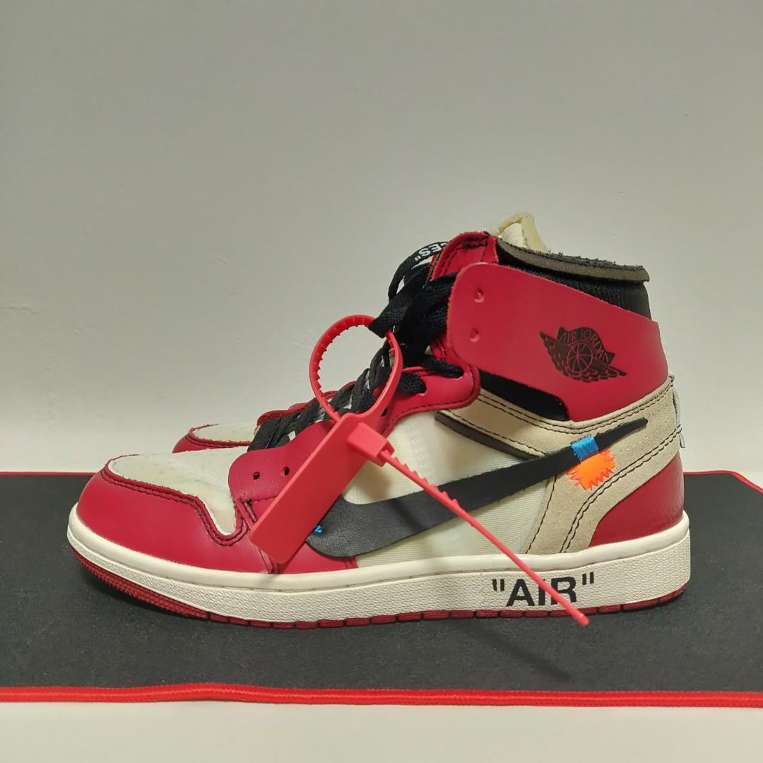 on sale 01664 11f5d Nike Off White Air Jordan 1 Chicago The Ten, Men's Fashion ...