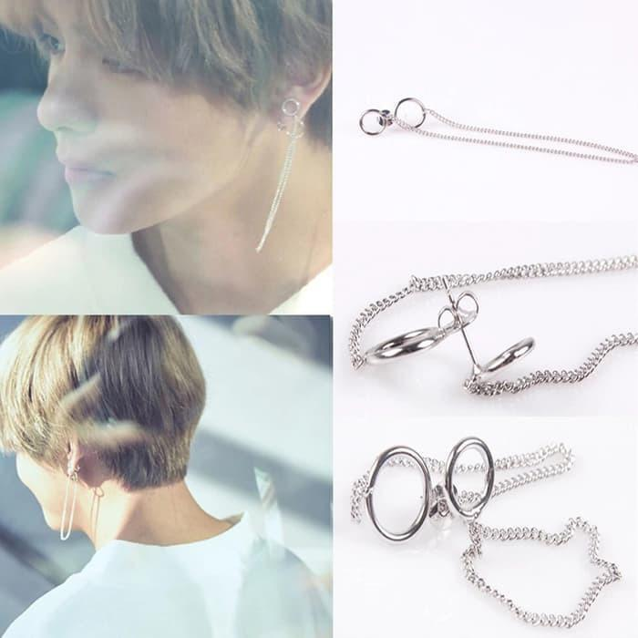 [ON SALE] BTS V Kim Taehyung Love Yourself Her DNA earrings (1pcs) Anting Unisex