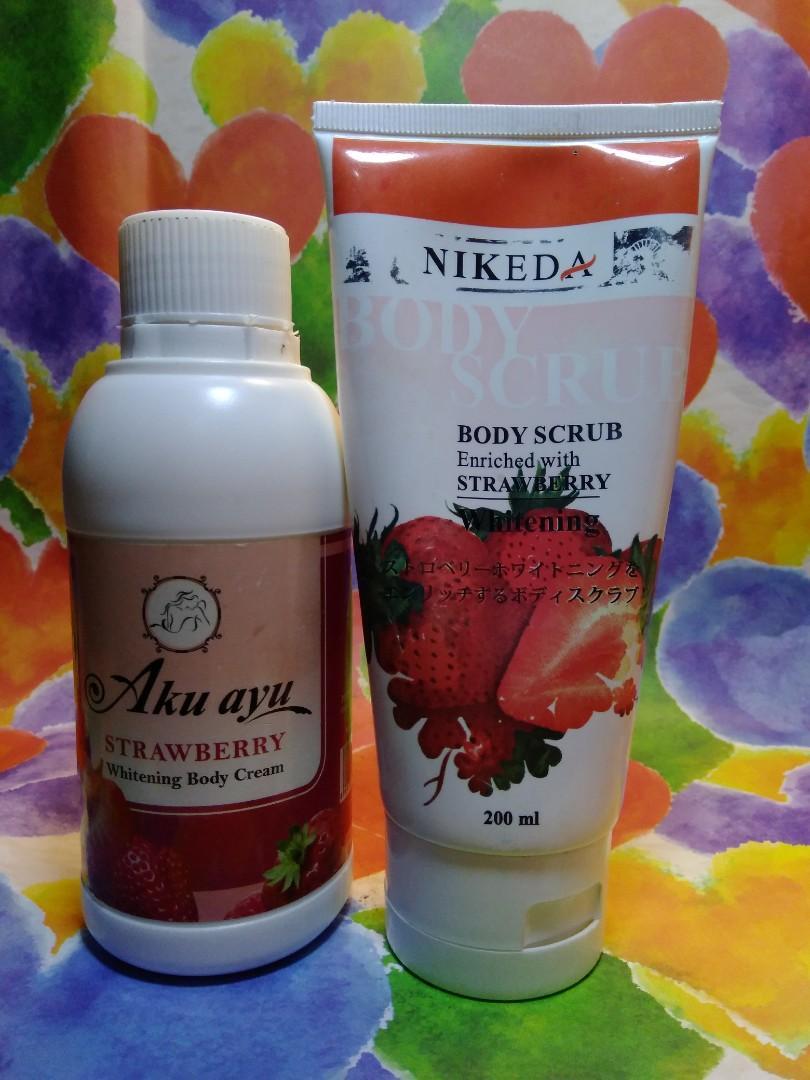 Paket Strawberry Scrub & Lotion share in jar 15gr (2506)