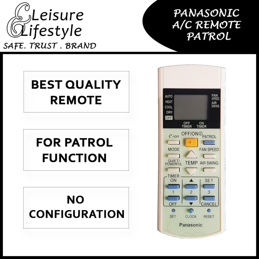 Panasonic Aircon Remote Patrol, Everything Else on Carousell