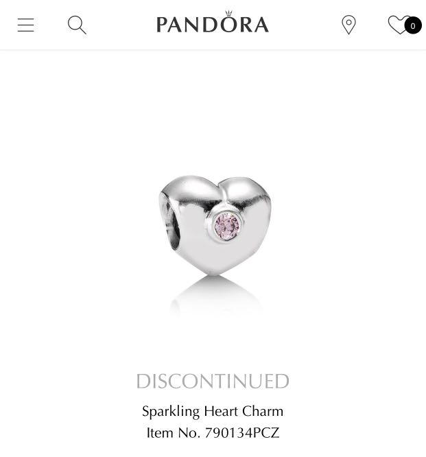 80e904383 Pandora sparkling heart charm, Women's Fashion, Jewellery, Others on  Carousell