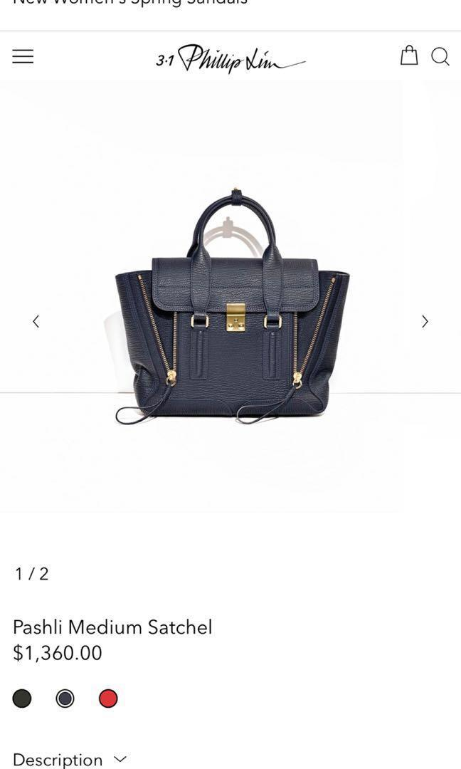 Philip Lim Pashli Medium Satchel