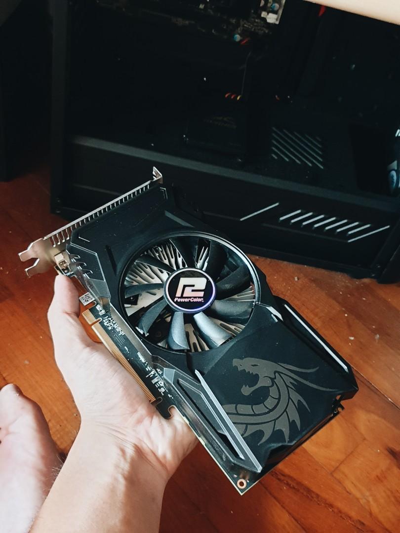 Powercolor Red Dragon RX560 (lengkap dengan box) Video Card / VGA / GPU