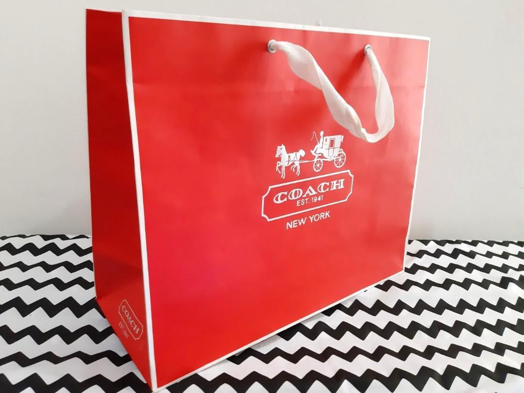 Preloved Paper Bag Coach original 40x32x16cm #ramadanbermanfaat
