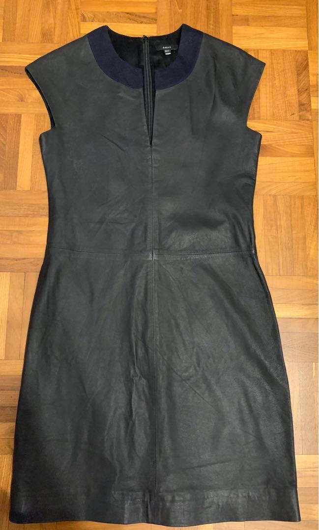 Raoul full leather silk lined shift dress