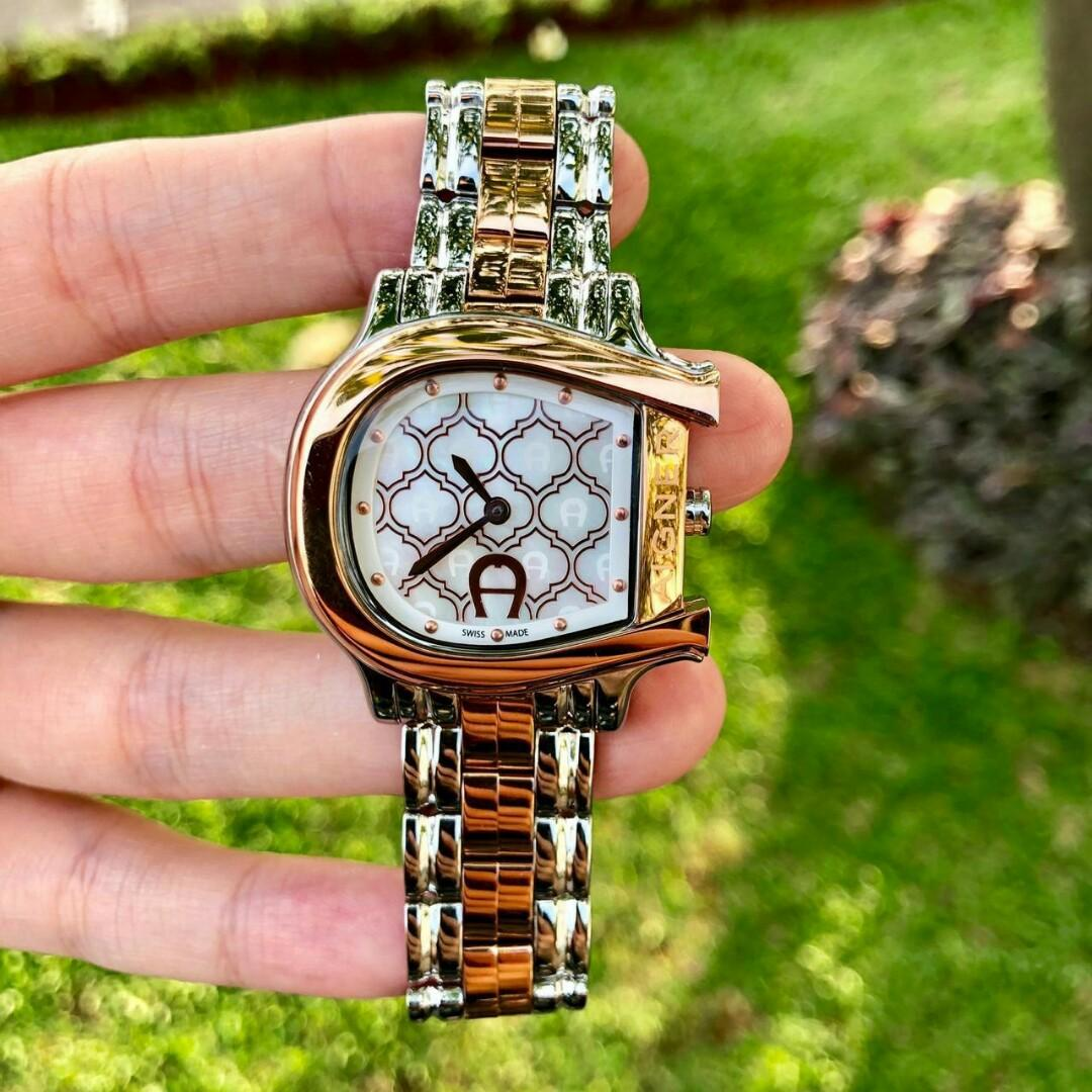 Ready - Aigner swiss silver rosegold (D : 3,5 cm) - IDR 8.350.000,-