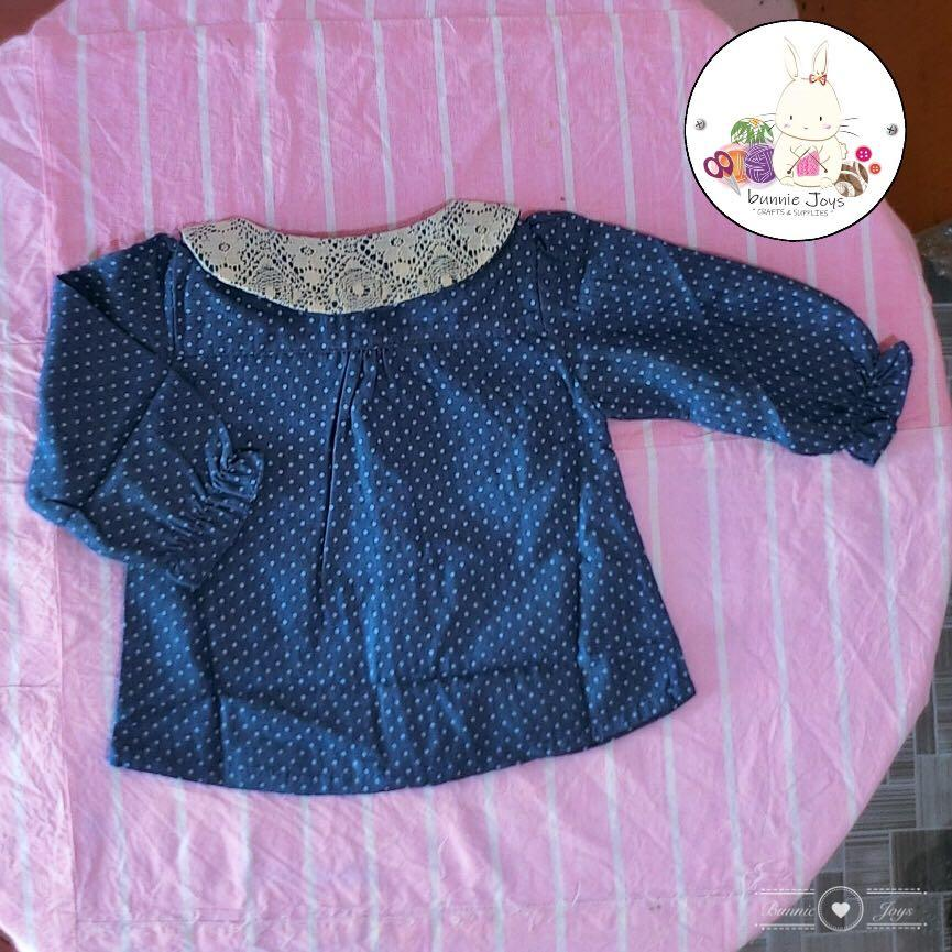 READY STOCK Lace Jeans Top