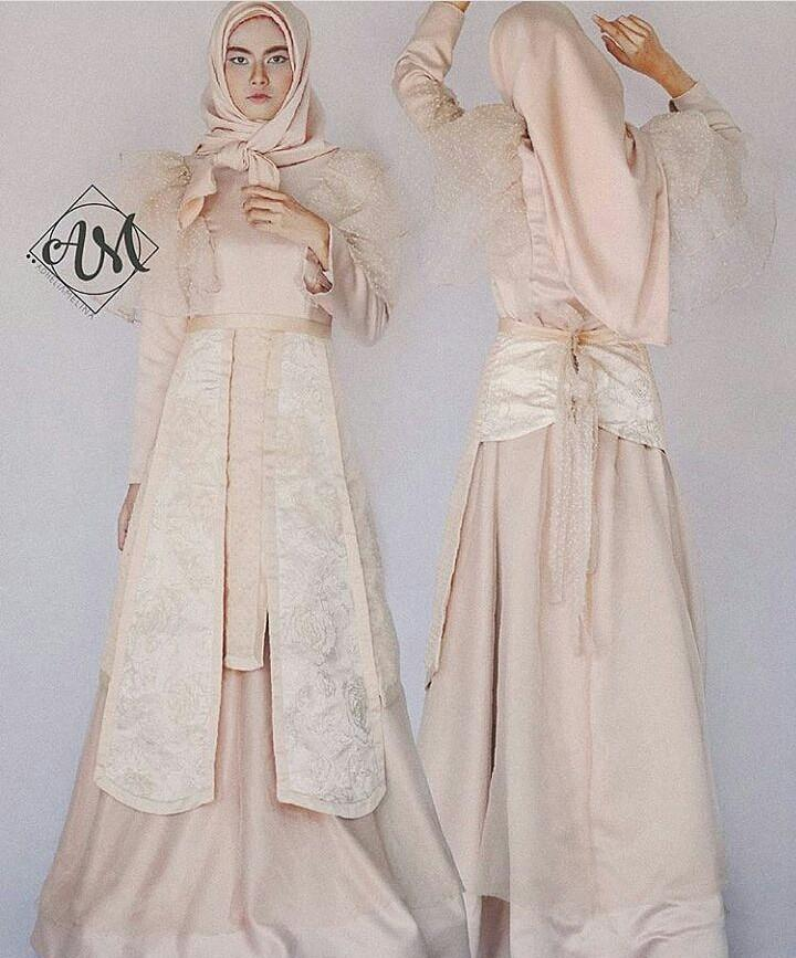 [SEWA] BROMANTIC - Apron modification inspired by Letty Lynton gown from 1932 LOOK 1 - Sewa Gaun Pernikahan Muslimah Vintage Rustic - Dress Pesta