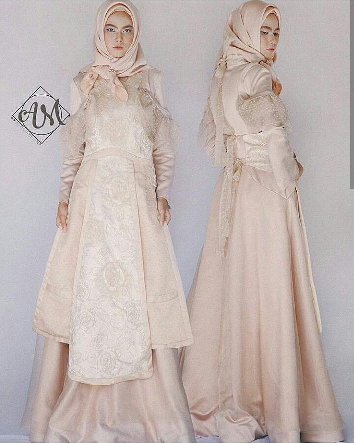 [SEWA] BROMANTIC - Apron modification inspired by Letty Lynton gown from 1932 LOOK 2 - Sewa Gaun Pernikahan Muslimah Vintage Rustic - Dress Pesta