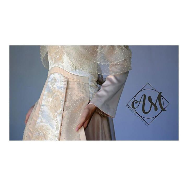[SEWA] BROMANTIC - Apron modification inspired by Letty Lynton gown from 1932 LOOK 2 - Sewa Gaun Pernikahan Muslimah Vintage Rustic - Dress Pesta