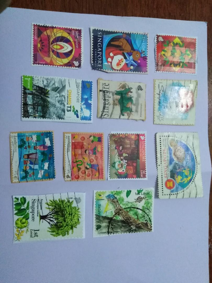 Singapore Stamps-1st local