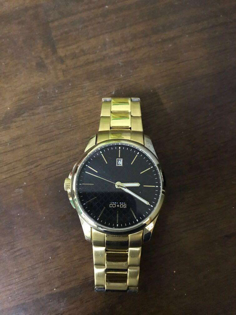 So&Co Gold Watch