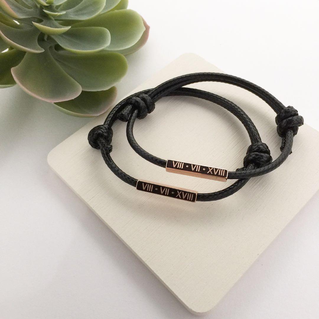 2864dc04514de Unisex personalised bracelet friendship bracelets personalised gift ...
