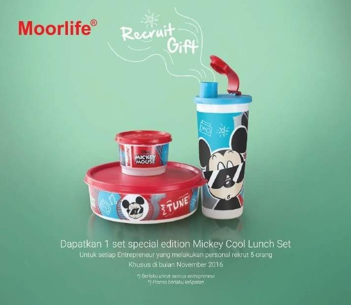 wadah bekal mickey mouse edition MOORLIFE (stock terbatas)