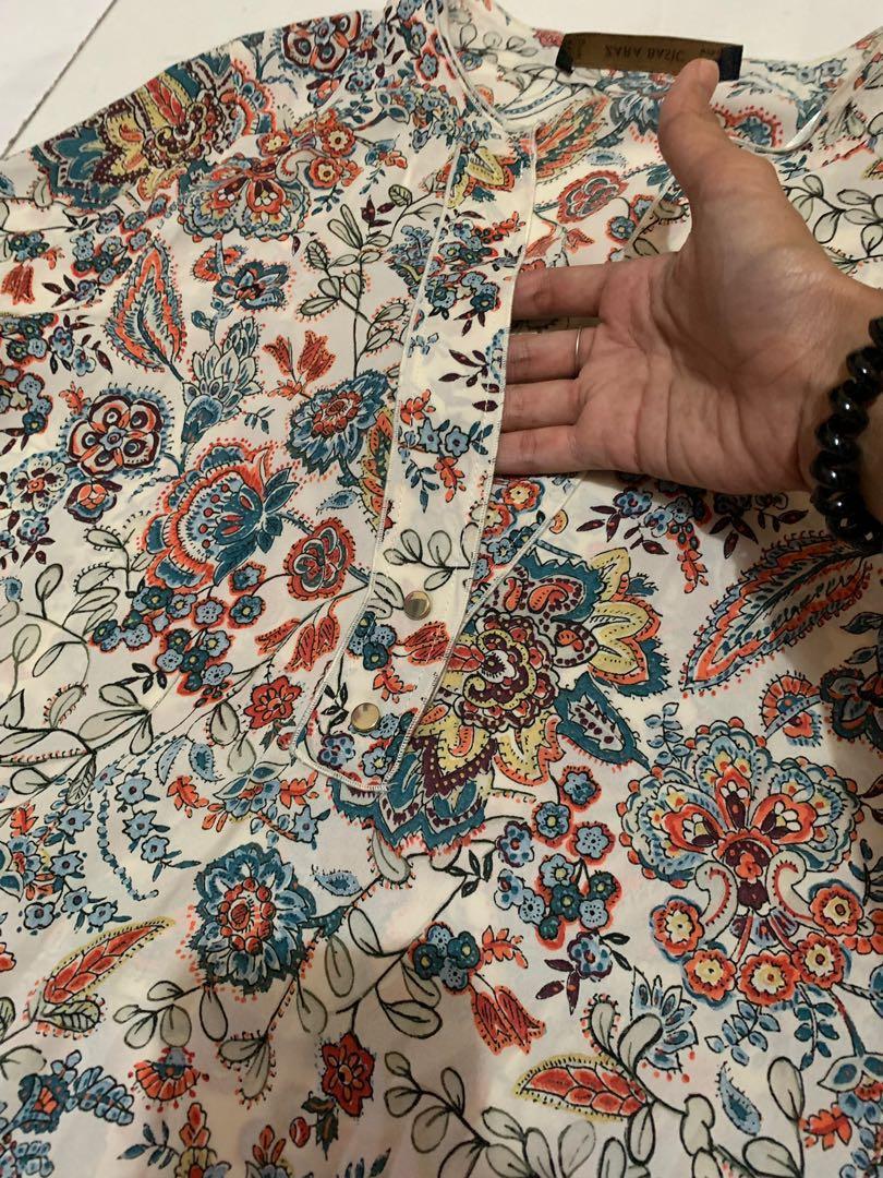 Zara floral print shirt