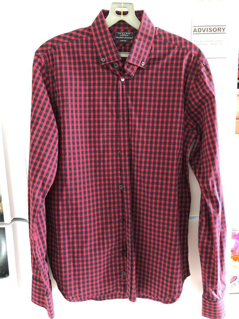 Zara Men Slim Fit Shirt Size M