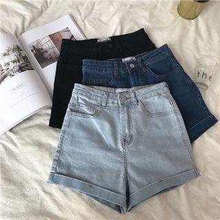 [PO] high waisted denim shorts