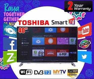 "(New)Toshiba 40"" Smart LED TV"