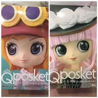 景品 航海王 海賊王 Qposket petit Vol.2 可亞拉+培羅娜 可分售