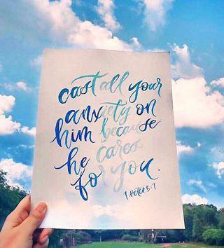 🚚 Handlettered watercolor lettering print  $8