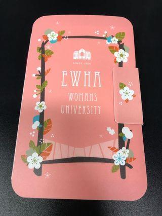 梨花女子大學 多用途筆記薄 筆 磁石貼