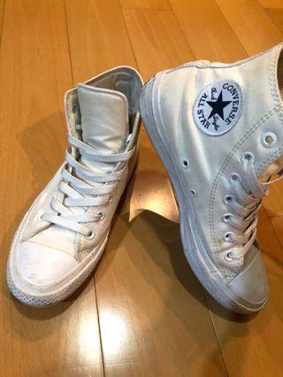 Converse白色高筒帆布鞋球鞋Chuck Taylor All Star(聯名款7成 24.5/39