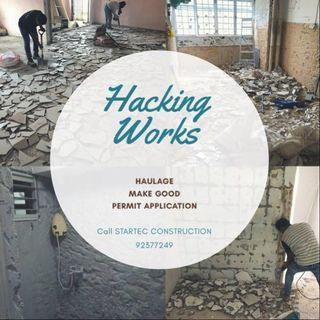Hacking and demolish