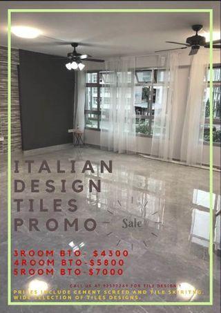 Floor tiles promotion