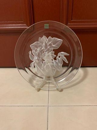 Hoya Crystal Plate - Cyclamen Flower