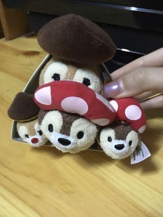 絕版割愛🤦🏻♀️ Disney chipndale 大鼻鋼牙 tsumtsum 公仔 fun fair 香港迪士尼樂園