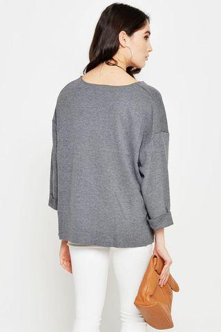 Love & Bravery Grey Sweater Top