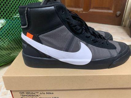 🚚 Nike Off White Blazer Grim Reaper Black