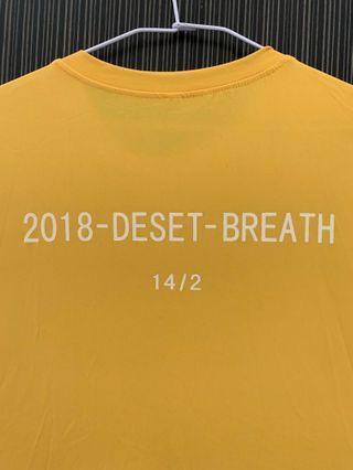 《四色》黃色desert breath 字樣短袖上衣