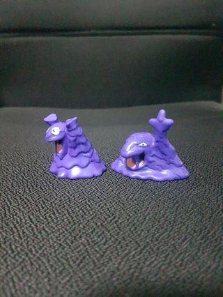Pokemon Figurines - Grimer Evolution Set