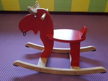 🚚 IKEA紅色搖搖麋鹿