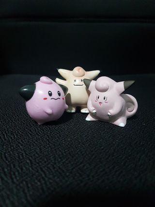 Pokemon Figurines - Cleffa Evolution Set