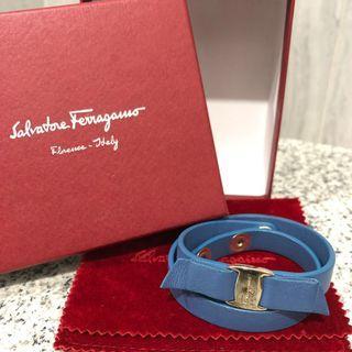 Salvatore Ferragamo Vara Bow Double Wrap Bracelet Preloved