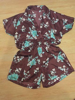 Flower Jumpsuit Silky