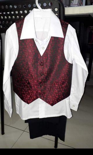 Tuxedo Vest Set for 6yo-7yo