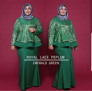 Preloved Plus Size Royal Lace Peplum