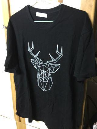 🚚 男版m號t shirt(幾何糜鹿)