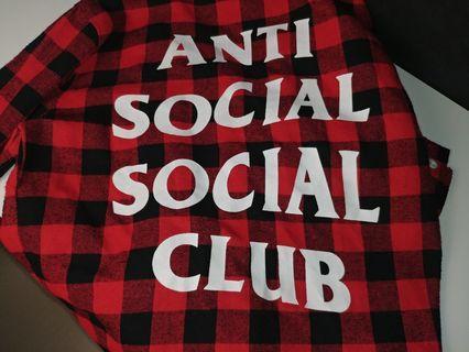 Anti Social Social Club Flannel 'Red/Black'