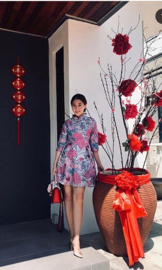 Reduced - Azorias New Cheongsam - Blue, Pink and Purple
