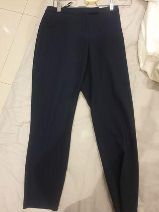 Topshop Work Pants Navy