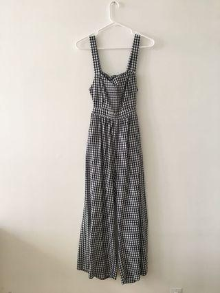 OAK AND FORT GINGHAM JUMPSUIT
