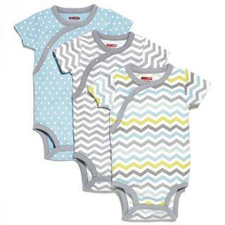 🚚 Skiphop Side-Snap Short Sleeve Bodysuit Set - Boy (9 Months)