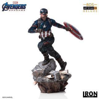 「預訂」Iron Studios BDS Art Scale 1/10 Figure (AvengersE.G.Ver) Captain America 美國隊長